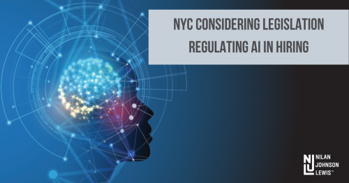 Newsroom image for the post NYC Employers: Watch For Proposed NYC Legislation Limiting the Use of AI in Hiring