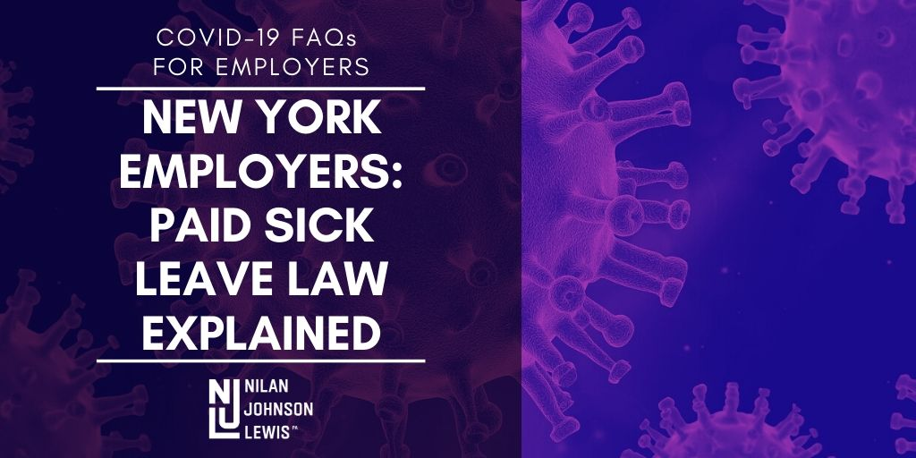 New York Employers: New COVID-19 Paid Sick Leave Law Explained