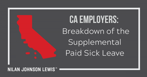 Newsroom image for the post California Employers: Breakdown of the Supplemental Paid Sick Leave (SPSL)