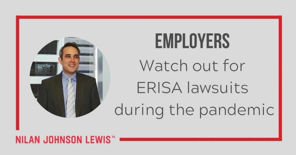 Employers: Watch Out for ERISA Lawsuits During Pandemic
