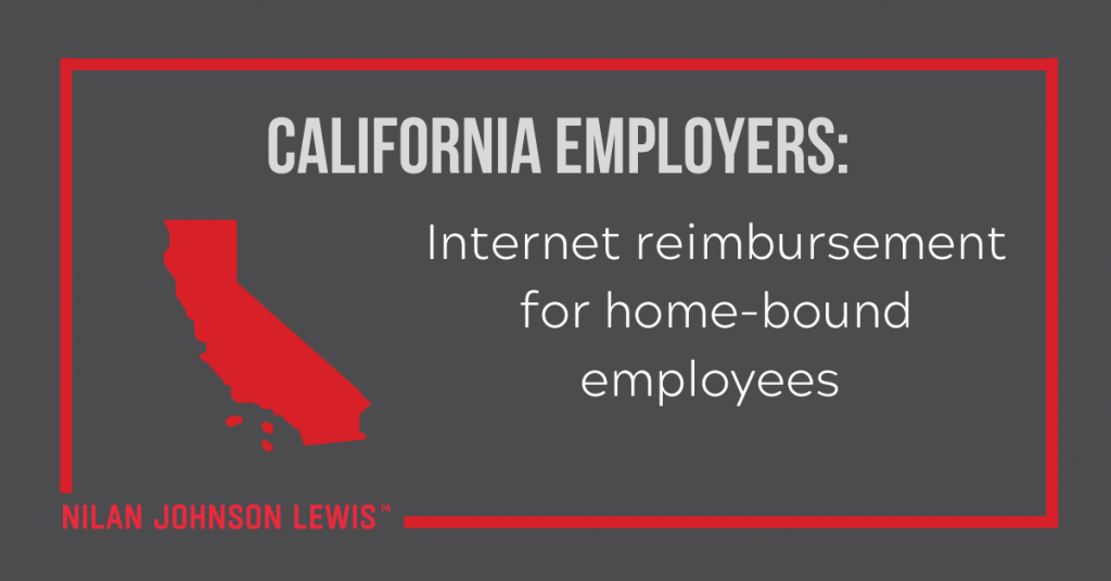 California Employers: Internet Reimbursement for Home-bound Employees