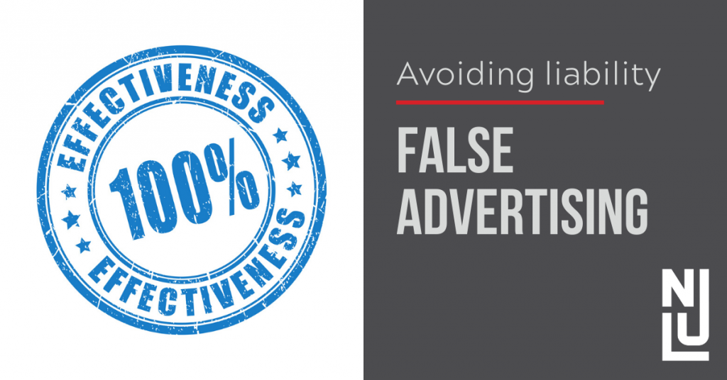 Avoiding False Advertising Claims During COVID-19