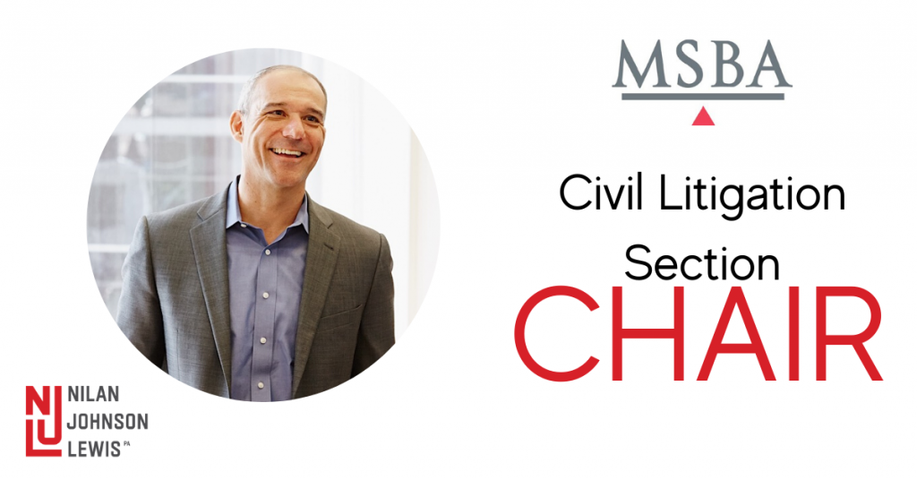 Scott Rusert Becomes MSBA's Civil Litigation Section Chair