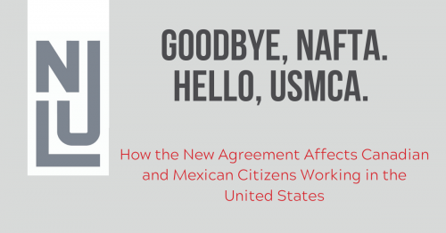 Newsroom image for the post Goodbye, NAFTA.  Hello, USMCA.