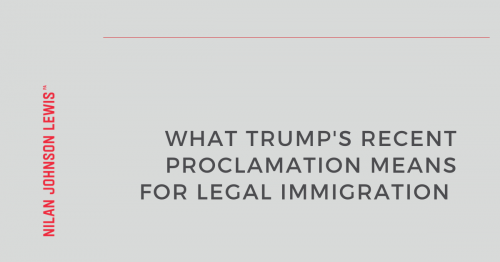 Newsroom image for the post Trump Administration Continues Its Attacks on Legal Immigration