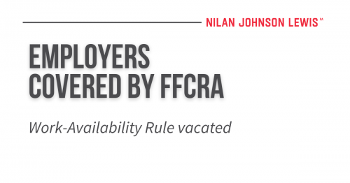 Newsroom image for the post Key FFCRA Regulations Overturned by Federal Court