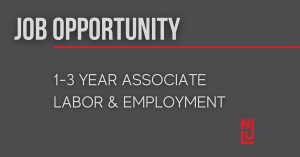 Nilan Johnson Lewis PA - Career Opportunity: Associate Attorney - Labor & Employment