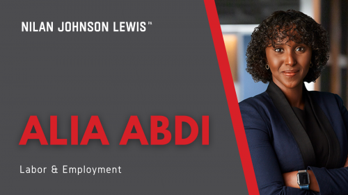 Newsroom image for the post Alia Abdi Joins NJL's Labor and Employment Team