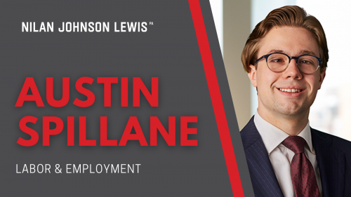 Newsroom image for the post NJL Adds Austin Spillane to Labor and Employment Practice