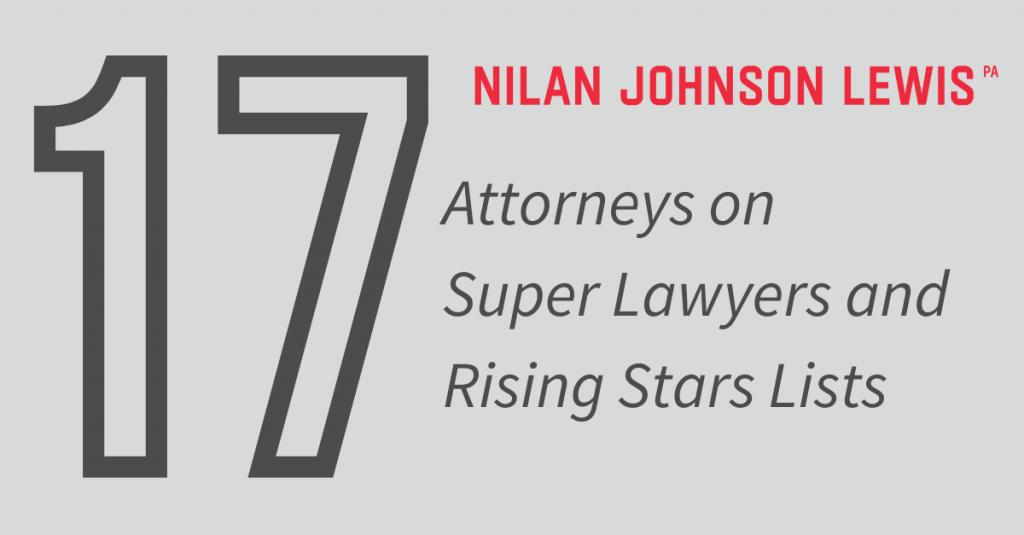 Seventeen NJL Lawyers on 2021 Super Lawyers Lists