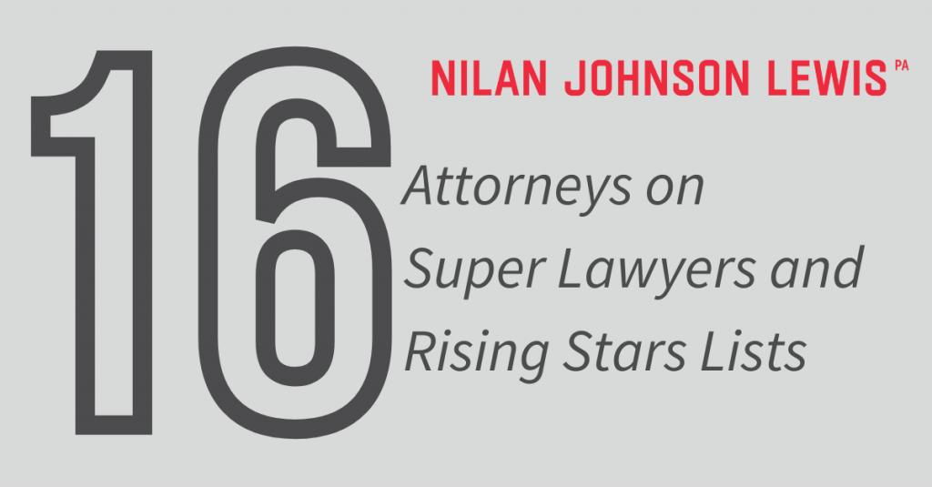 Sixteen NJL Lawyers on 2021 Super Lawyers Lists